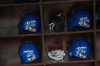 Cascos azules y bats dogout de la selecci&oacute;n de Italia. <br /> Aspectos del partido Mexico vs Italia, durante Cl&aacute;sico Mundial de Beisbol en el Estadio de Charros de Jalisco.<br /> Guadalajara Jalisco a 9 Marzo 2017 <br /> Luis Gutierrez/NortePhoto.com