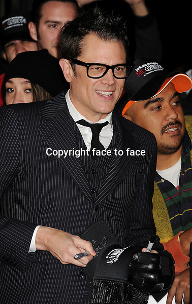 HOLLYWOOD, CA- OCTOBER 23: Actor Johnny Knoxville arrives at the Los Angeles premiere of 'Jackass Presents: Bad Grandpa' at TCL Chinese Theatre on October 23, 2013 in Hollywood, California.<br /> <br /> Credit: Mayer/face to face<br /> - No Rights for USA, Canada and France -