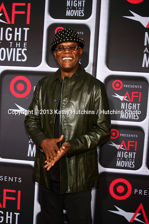 LOS ANGELES - APR 24:  Samuel L. Jackson arrives at the AFI Night at the Movies 2013 at the ArcLight Hollywood Theaters on April 24, 2013 in Los Angeles, CA