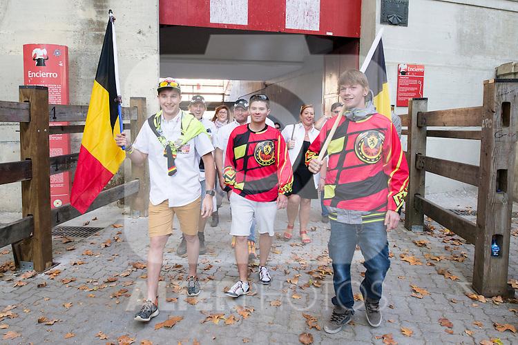 Belgium enduro team during the presentation of the FIM international six days of enduro 2016 in Pamplona, Spain. October 09, 2016. (ALTERPHOTOS/Rodrigo Jimenez)