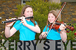 Kerry Fleadh : Sisters Caoimhe & Eimear Doyle from Kilcummin CCE taking part at the Kerry Fleadh Cheoil in Balllybunion on Saturday last.