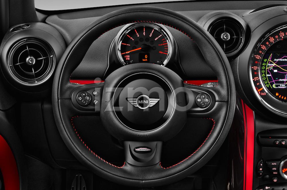 Car pictures of steering wheel view of a 2016 MINI Countryman JCW 5 Door Hatchback Steering Wheel