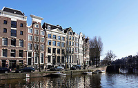 Nederland Amsterdam 2018.  Huizen aan de Keizersgracht.   Foto Berlinda van Dam / Hollandse Hoogte