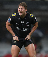 DURBAN, SOUTH AFRICA - APRIL 14: Robert du Preez of the Cell C Sharks during the Super Rugby match between Cell C Sharks and Vodacom Bulls at Jonsson Kings Park Stadium on April 14, 2018 in Durban, South Africa. Photo: Steve Haag / stevehaagsports.com