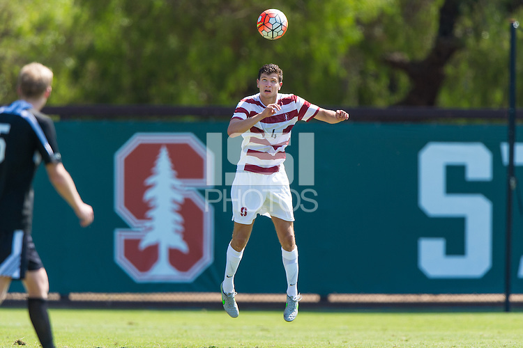 Stanford, CA - September 20, 2015: Tomas Hilliard-Arce during the Stanford vs Davidson men's soccer match in Stanford, California.  The Cardinal defeated the Wildcats 1-0 in overtime.