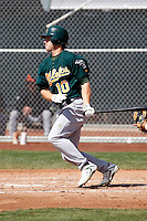Dusty Coleman- Oakland Athletics - 2009 spring training.Photo by:  Bill Mitchell/Four Seam Images