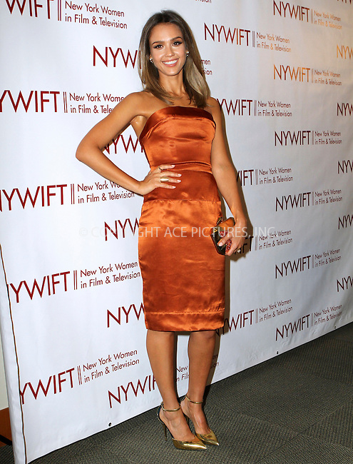 ACEPIXS.COM<br /> <br /> June 18 2014, New York City<br /> <br /> Actress Jessica Alba attends the 2014 New York Women In Film And Television 'Designing Women' Awards Gala at the McGraw Hill Building on June 18, 2014 in New York City<br /> <br /> <br /> By Line: Nancy Rivera/ACE Pictures<br /> <br /> ACE Pictures, Inc.<br /> www.acepixs.com<br /> Email: info@acepixs.com<br /> Tel: 646 769 0430