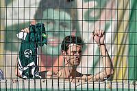 SÃO PAULO, SP, 21 DE SETEMBRO DE 2013 - CAMPEONATO BRASILEIRO SÉRIE B - PALMEIRAS x SPORT: Torcida do Palmeiras antes da partida Palmeiras x Sport, válida pela 23ª rodada do Campeonato Brasileiro 2013 Série B, disputada no estádio do Pacaembu em São Paulo. FOTO: LEVI BIANCO - BRAZIL PHOTO PRESS.