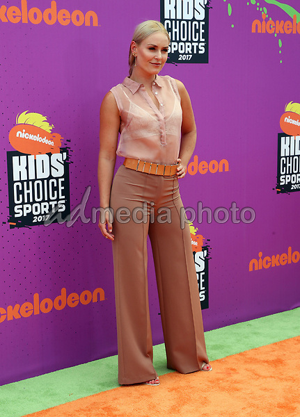 13 July 2017 - Los Angeles, California - Lindsey Vonn. Nickelodeon Kids' Choice Sports Awards 2017 held at Pauley Pavilion. Photo Credit: F. Sadou/AdMedia