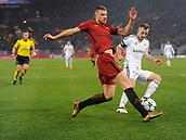 5th December 2017, Stadio Olimpic, Rome, Italy; UEFA Champions league football, AS Roma versus Qarabağ FK; Edin Dzeko