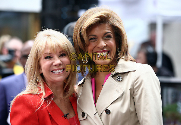 KATHIE LEE GIFFORD & HODA KOTB.Musician Sting performs on NBC's 'Today' at Rockefeller Center New York City, New York, NY, USA..May 14th, 2010.half length kathy white red jacket smiling .CAP/ADM/PZ.©Paul Zimmerman/AdMedia/Capital Pictures.