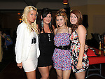 Megan Clarke Duleek, Stephanie Smith Marian Park, Emma Dowd Duleek and Stephanie Brangan Duleek pictured at Vincent Ludlow's 50th birthday in the Star and Crescent. Photo: Colin Bell/pressphotos.ie