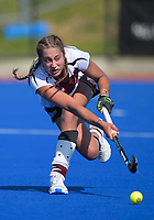 Action from the 2019 Women's National Hockey League match between Tiger Turf North Harbour and Southern at Blake Park in Mount Maunganui, New Zealand on Saturday, 14 September 2019. Photo: Dave Lintott / lintottphoto.co.nz