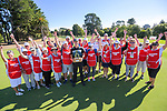 2020 Super 6s champion Daniel Hillier with tournament volunteers. Final day of the Jennian Homes Charles Tour / Brian Green Property Group New Zealand Super 6s at Manawatu Golf Club in Palmerston North, New Zealand on Sunday, 8 March 2020. Photo: Dave Lintott / lintottphoto.co.nz