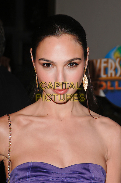 """GAL GADOT.World Premiere of """"Fast & Furious"""" held at Gibson Ampitheatre in Universal City, California, USA. .March 12th, 2009 .headshot portrait purple strapless .CAP/ROT.©Lee Roth/Roth Stock/Capital Pictures"""