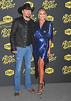06 June 2018 - Nashville, Tennessee - Jason Aldean, Brittany Kerr. 2018 CMT Music Awards held at Bridgestone Arena.  <br /> CAP/ADM/LF<br /> &copy;LF/ADM/Capital Pictures