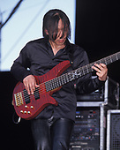 WANTAGH NY - AUGUST 09: John Myung of Dream Theater performs at The Jones Beach Amphitheater on August 9, 1998 in Wantagh, New York. Photo by Larry Marano © 1998
