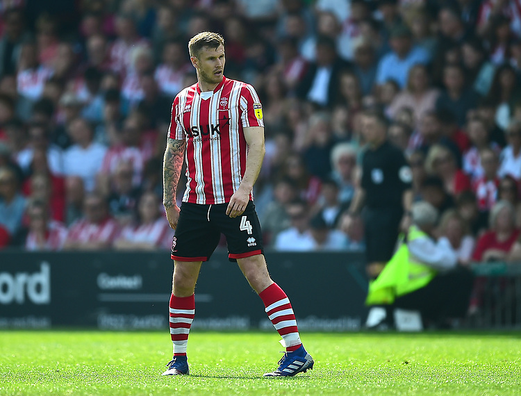 Lincoln City's Michael O'Connor<br /> <br /> Photographer Andrew Vaughan/CameraSport<br /> <br /> The EFL Sky Bet League Two - Lincoln City v Tranmere Rovers - Monday 22nd April 2019 - Sincil Bank - Lincoln<br /> <br /> World Copyright © 2019 CameraSport. All rights reserved. 43 Linden Ave. Countesthorpe. Leicester. England. LE8 5PG - Tel: +44 (0) 116 277 4147 - admin@camerasport.com - www.camerasport.com