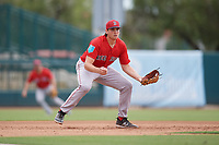 Boston Red Sox Triston Casas (19) during a Florida Instructional League game against the Baltimore Orioles on October 8, 2018 at the Ed Smith Stadium in Sarasota, Florida.  (Mike Janes/Four Seam Images)