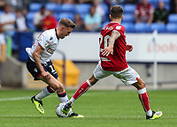 Bolton Wanderers' Craig Noone competing with Bristol City's Jamie Paterson<br /> <br /> Photographer Andrew Kearns/CameraSport<br /> <br /> The EFL Sky Bet Championship - Bolton Wanderers v Bristol City - Saturday August 11th 2018 - University of Bolton Stadium - Bolton<br /> <br /> World Copyright &copy; 2018 CameraSport. All rights reserved. 43 Linden Ave. Countesthorpe. Leicester. England. LE8 5PG - Tel: +44 (0) 116 277 4147 - admin@camerasport.com - www.camerasport.com