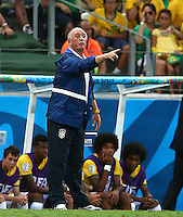 Brazil head coach Luiz Felipe Scolari gestures on the touchline