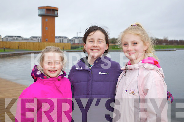 Pictured at the Tralee Bay Wetlands Centre on Saturday, from left: Jane Doyle, Iona O'Neill and Katie O'Neill.
