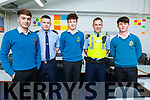 Attending the Careers night in Mercy Mounthawk on Thursday night,<br /> L-r, Josh O&rsquo;Connor, Gda Ross McGrath, Ian McCarthy, Gda Stephen Foley and Shane McCarthy.
