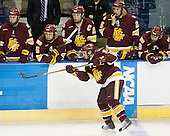 Jake Hendrickson (Duluth - 15) - Mike Seidel (Duluth - 17), Trent Palm (Duluth - 5), Mike Montgomery (Duluth - 24), Justin Faulk (Duluth - 25), Drew Olson (Duluth - 8) - The University of Minnesota-Duluth Bulldogs defeated the Union College Dutchmen 2-0 in their NCAA East Regional Semi-Final on Friday, March 25, 2011, at Webster Bank Arena at Harbor Yard in Bridgeport, Connecticut.