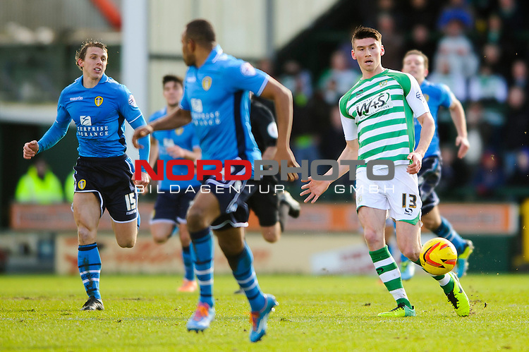 Yeovil Forward Kieffer Moore (ENG) in action -  - 08/02/2014 - SPORT - FOOTBALL - Huish Park, Yeovil - Yeovil Town v Leeds United - Sky Bet Championship.<br /> Foto nph / Meredith<br /> <br /> ***** OUT OF UK *****