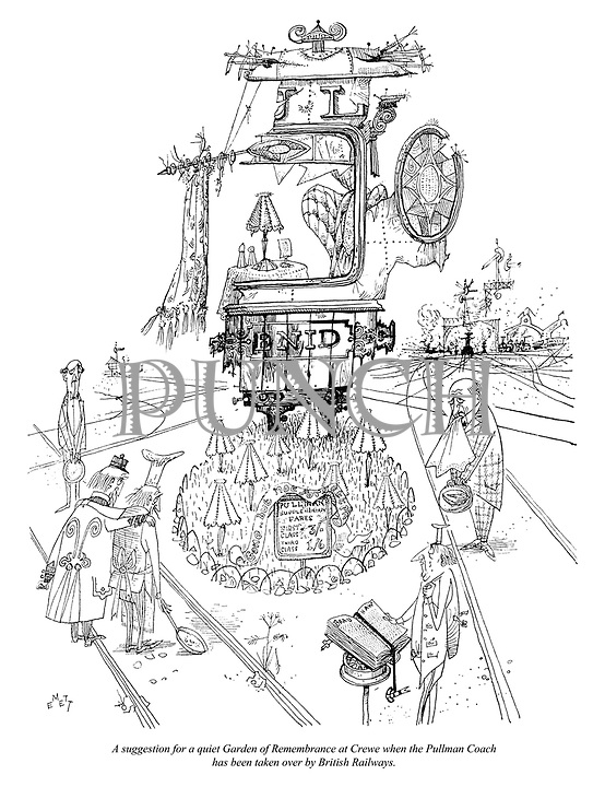 A suggestion for a quiet Garden of Remembrance at Crewe when the Pullman Coach has been taken over by British Railways.