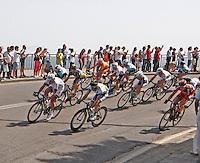 NAPOLI 04/05/2013 PRIMA TAPPA  CIRCUITO NAPOLI 968 GIRO D'ITALIA.NELLA FOTO .FOTO CIRO DE LUCA .Cyclist riders during  the first stage of 96° Giro d''italia cycling race in Naples .