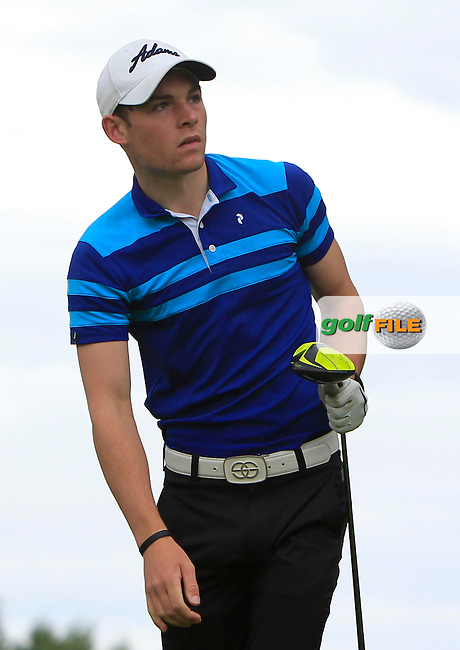 Andrew Benson (SCO) on the 15th tee during R2 of the 2016 Connacht U18 Boys Open, played at Galway Golf Club, Galway, Galway, Ireland. 06/07/2016. <br /> Picture: Thos Caffrey | Golffile<br /> <br /> All photos usage must carry mandatory copyright credit   (&copy; Golffile | Thos Caffrey)