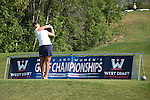 April 13, 2015; Ventura, CA, USA; Pepperdine Waves golfer Alina Ching during the WCC Golf Championships at Saticoy Country Club.