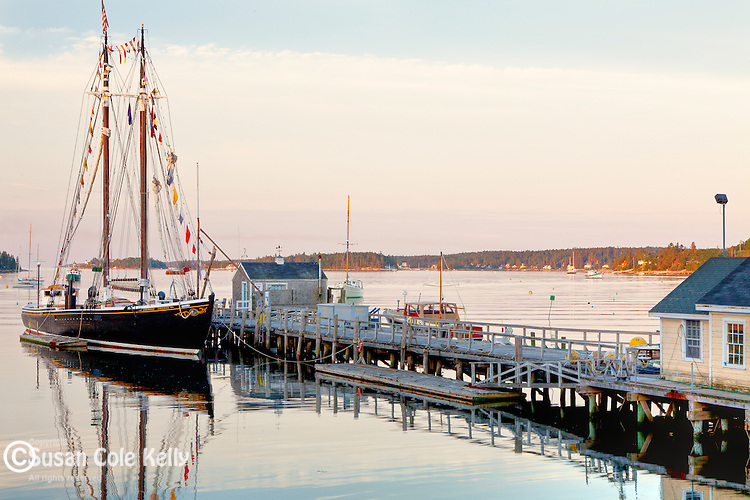 Morning at the Boothbay Shipyars in Boothbay, ME, USA