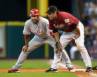 Cairo and Berkman 5856.jpg Philadelphia Phillies at Houston Astros. Major League Baseball. September 6th, 2009 at Minute Maid Park in Houston, Texas. Photo by Andrew Woolley.