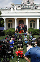 White House sits journalists without social distancing during U.S. President Donald Trump's remarks and signing H.R. 7010 - PPP Flexibility Act of 2020 in the Rose Garden of the White House in Washington on June 5, 2020. Photo by Yuri Gripas/ABACAPRESS.COM<br /> Credit: Yuri Gripas / Pool via CNP/AdMedia