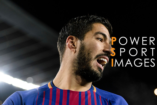 Luis Suarez of FC Barcelona reacts during the Copa Del Rey 2017-18 match between FC Barcelona and Valencia CF at Camp Nou Stadium on 01 February 2018 in Barcelona, Spain. Photo by Vicens Gimenez / Power Sport Images