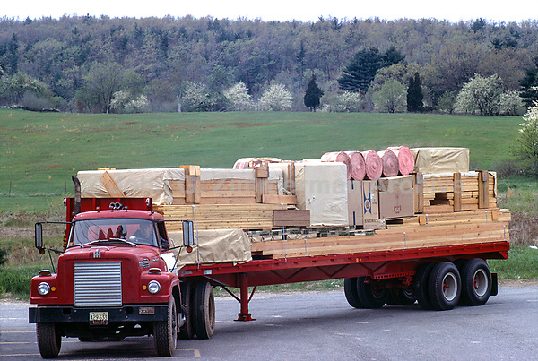 Construction materials for Jens Risom's Prefab House, Block Island, RI, 1967. Photographer John G. Zimmerman