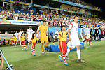 South Korea team group (KOR),<br /> JUNE 17, 2014 - Football / Soccer :<br /> (R-L) Koo Ja-Cheol, Jung Sung-Ryong and Yun Suk-Young of South Korea enter the pitch before the FIFA World Cup Brazil 2014 Group H match between Russia 1-1 South Korea at Arena Pantanal in Cuiaba, Brazil. (Photo by SONG Seak-In/AFLO)
