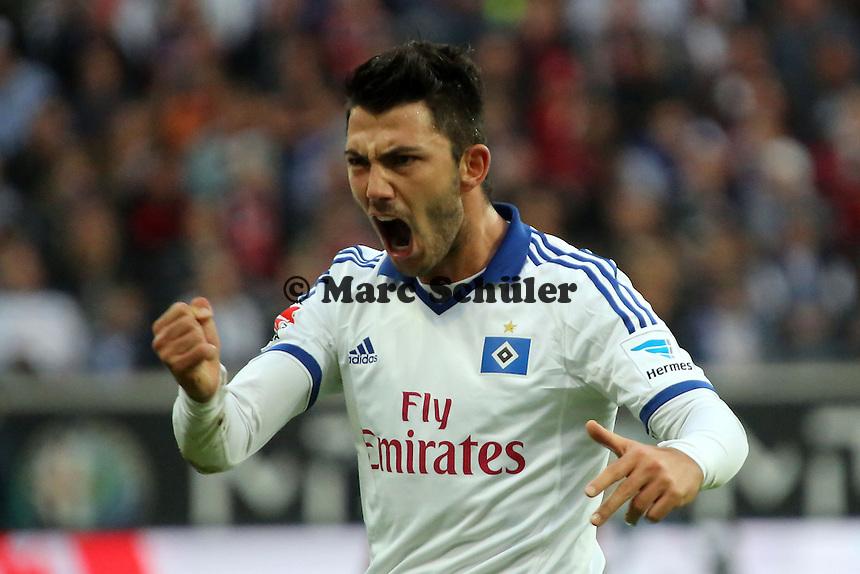 Tolgay Arslan (HSV) regt sich auf - Eintracht Frankfurt vs. Hamburger SV, Commerzbank Arena