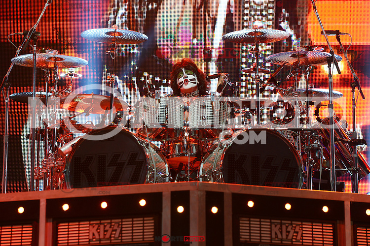 ALBUQUERQUE NM - AUGUST 7:  Eric Singer of Kiss performs at the Hard Rock Casino Albuquerque on August 7, 2012 in Albuquerque, New Mexico. /NortePhoto.com<br />