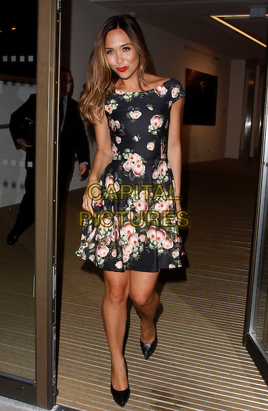 LONDON, ENGLAND - OCTOBER 29 :  Myleene Klass leaves the Andrew Levitas : Metalwork Photography - private view at 30 Berkeley Square on October 29, 2014 in London, England.<br /> CAP/AH<br /> &copy;Adam Houghton/Capital Pictures