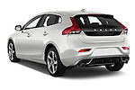 Car pictures of rear three quarter view of 2015 Volvo V40 R-Design 5 Door Hatchback Angular Rear