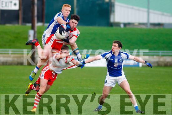 Action between An Ghaeltact and Templenoe in the Kerry County Intermediate football championship final from Austin Stack Park.