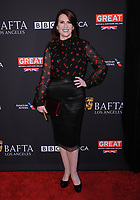 06 January 2018 - Beverly Hills, California - Megan Mullally. 2018 BAFTA Tea Party held at The Four Seasons Los Angeles at Beverly Hills in Beverly Hills.    <br /> CAP/ADM/BT<br /> &copy;BT/ADM/Capital Pictures