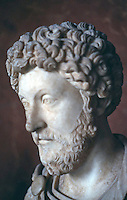 Greek Art:  Marcus Aurelius, early in his reign.  Louvre.  Photo '90.