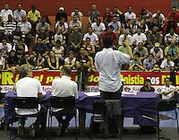 ATENÇÃO EDITOR: FOTO EMBARGADA PARA VEÍCULOS INTERNACIONAIS - SÃO PAULO, SP, 23 DE OUTUBRO 2012 - ASSEMBLEIA DOS METROVIÁRIOS - O Sindicato dos Trabalhadores em Empresas de Transportes Metroviários em assembléia aceitaram a proposta da Companhia do Metropolitano de São Paulo com isso decidiram pela não paralisação das atividades descartando a greve nesta quarta feira, a assembléia aconteceu na sede do sindicato no Tatuapé zona leste, Nesta terça 23. (FOTO:  LEVY RIBEIRO / BRAZIL PHOTO PRESS).