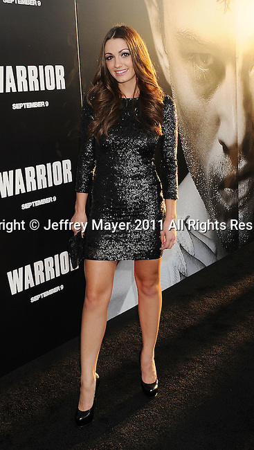"HOLLYWOOD, CA - SEPTEMBER 06: Julia Stockstad attends  the ""Warrior"" Los Angeles Premiere at the ArcLight Cinemas on September 6, 2011 in Hollywood, California."