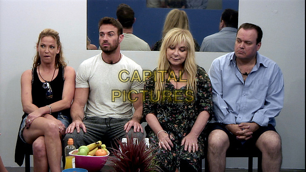 Celebrity Big Brother 2017<br /> Sarah Harding, Chad Johnson, Helen Lederer and Shaun Williamson.<br /> *Editorial Use Only*<br /> CAP/KFS<br /> Image supplied by Capital Pictures