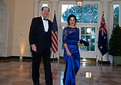 David Malpass and Mrs. Adele Malpass arrive for the State Dinner hosted by United States President Donald J. Trump and First lady Melania Trump in honor of Prime Minister Scott Morrison of Australia and his wife, Jenny Morrison, at the White House in Washington, DC on Friday, September 20, 2019.<br /> Credit: Ron Sachs / Pool via CNP